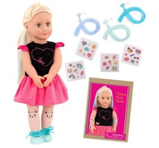 "Our Generation 18"" Glow in the Dark Tattoo Doll - Luana NEW  - $53.99"