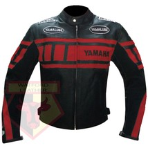 Yamaha 0120 Red Motorcycle Motorbike Armoured Cowhide Leather Jacket - $184.99