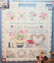 Quilties Mini Quilts Simple Pleasures are Life's Treasures Dimensions 13x15 - $21.41