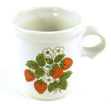 McCoy Pottery Ceramic Strawberry Flower Teacup Coffee Cup Vintage  - $8.44