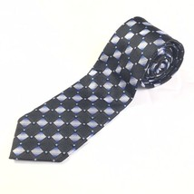 VINTAGE MENS TIE NECKTIE ALEXANDER JULIAN COLOURS BLUE BLACK POLYESTER S... - $19.75