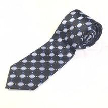 VINTAGE MENS TIE NECKTIE ALEXANDER JULIAN COLOURS BLUE BLACK POLYESTER S... - $19.75