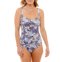 Liz Claiborne Paisley Sanorini Tankini Swimsuit Top Size 6, 14, 16 New - $24.99