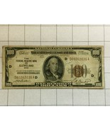 1929 National Currency Federal Reserve Bank of Cleveland Ohio One Hundre... - $175.00