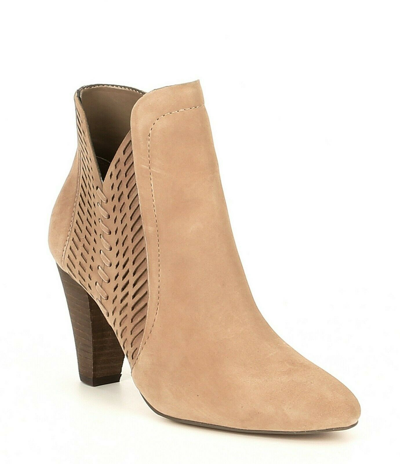 Women Vince Camuto Rotiena Suede Laser Cut Booties, Multi Sizes Wild Mushroom VC image 2
