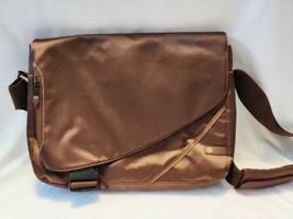 Laptop Carrying Case Shoulder Bag - Brown Organizer with Shoulder Strap - $17.82
