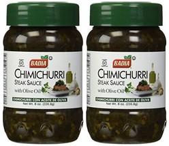 Badia Chimichurri Steak Sauce with Olive Oil, 8 oz 2 Pack