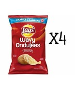 4x Bags Lays WAVY Original Chips LARGE Family Size 235g Canada FRESH - $31.67