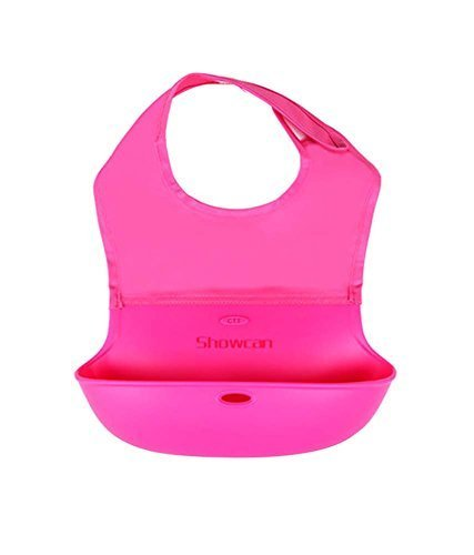 Fashionable Waterproof Comfortable Baby Bib/Pinafore For Baby,Rose Red