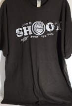 "Christmas Story ""You""ll Shoot Your Eye Out"" Mens size XL T-shirt - $12.19"