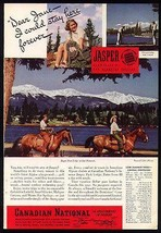 Jasper Park Beauties on Horseback 1940 Photo Ad Canadian National to Eve... - $14.99