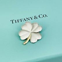 Tiffany & Co Silver 18K Gold 4 Leaf Clover Pendant Good Luck Irish Shamrock - $349.00