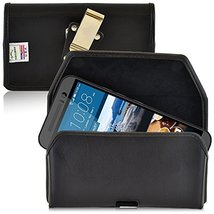 Turtleback Belt Case Made for HTC One M9 Black Holster Leather Pouch with Heavy  - $37.99