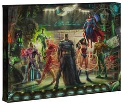 Thomas Kinkade Studios DC The Justice League 10 x 14 Gallery Wrap Canvas - $69.00
