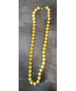 Vintage  PAT 537/985 Chunky Beaded Necklace Yellow - $4.90