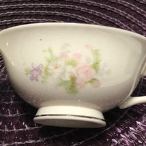 "Overture by CARILLON set of 2 Footed Cups 2"" Excellent Cond. Pastel Flor... - £10.40 GBP"