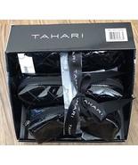 Tahari 3 Piece Cosmetic Case Set in Black Patent with Bonus 90ml Bottle - $14.84