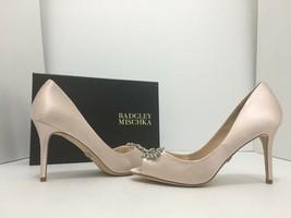 Badgley Mischka Accent Pink Satin Women's Evening High Heels Pumps Size ... - £59.15 GBP