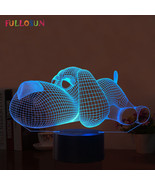 Dog Lamp 3D Night Light Kids Toy LED 3D Touch Table Lamp 7 Colors Flashi... - $36.24