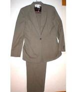 Nice Womens 12 Blazer Jacket 16 Pants Office Jones New York Suit Brown T... - $135.00
