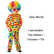 TPDT* rims clown Halloween Costumes Kids Children Funny Clown Costume Na... - £33.99 GBP