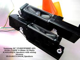 """Samsung 46"""" UN46EH5000F-AZA BN96-21669C 6 Ohms 10 Watts K34M10SJ54 Speakers - $15.85"""