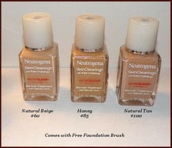 NEW Neutrogena Skin Clearing Oil-Free Makeup Foundation  #60 #85 #100  F... - $9.95
