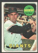 San Francisco Giants Jim Davenport 1969 Topps Baseball Card 102 ex - $0.99