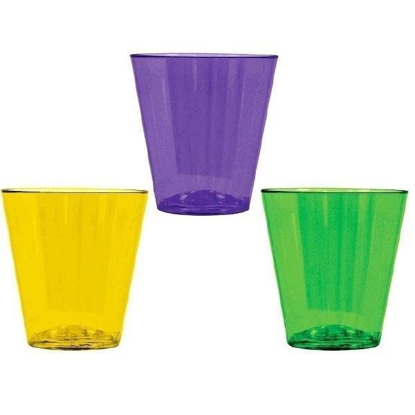 Mardi Gras 40 Ct Plastic Shot Glasses