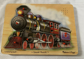 Melissa & Doug Wooden Train Sound Puzzle Hand Crafted #341 9 Piece Wood Puzzle - $14.89