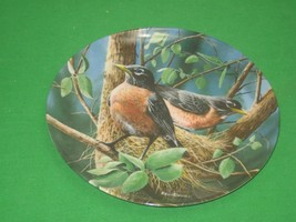 The Robin Collector Plate Signed 1986 Knowles Kevin Daniel Plate No 15821H - $12.82