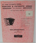 MARCHES & PATRIOTIC SONGS for ACCORDION Easy Arrangements Sheet Music Book - $4.37
