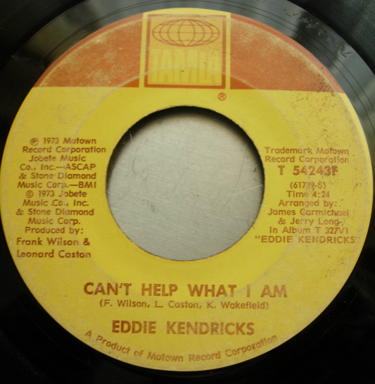 Eddie Kendricks - Boogie Down / Can't Help What I Am - Tamla Records T 54243F