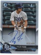 2018 Bowman Draft Chrome Autographs Refractors #CDA-TF Tyler Frank Rays ... - $16.20