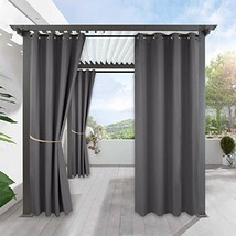 RYB HOME Waterproof Outdoor Curtains - Outdoor Gazebo Curtains Home Outs... - $30.24
