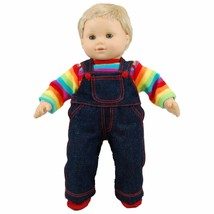 "15""  Baby Doll Clothes Fit American Girl Bitty Twin Rainbow Shirt Pants ... - $17.75"