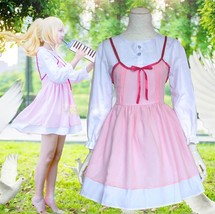 Your Lie in April Miyazono Kaori Pink Dress White Shirt Anime Cosplay Co... - $33.99