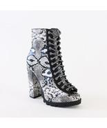 vita-13 vegan snakeskin heel ankle boots booties - $38.99