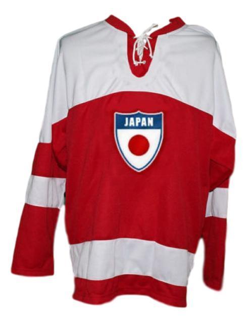 Custom name   team japan retro hockey jersey red   1