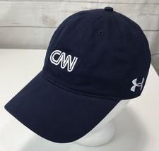 CNN NEWS UNDER ARMOUR MENS Navy BLUE BASEBALL CAP Hat - $29.69