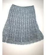 Womens USA NWT $398 Worth New York Skirt Pleated Dark Blue White 6 Work ... - $159.20