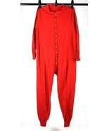 Vintage 70s Duofold Red Union Suit Thermal Long Johns Underwear One Piec... - $38.60