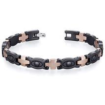 Men's Tungsten Ceramic Copper Tone Eyeball Link Bracelet - $81.99