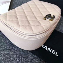 AUTHENTIC CHANEL 2017 PINK QUILTED CAVIAR 2 WAY FLAP BAG NEW image 10