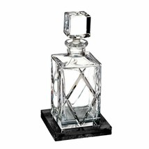 Waterford Olann Decanter Square 28 oz with Marble Coaster #40031001 - $286.11