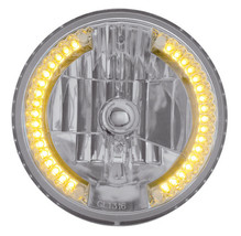 United Pacific 31378 7-inch Crystal Headlight with 34 Amber LED Position... - $55.31