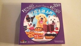Cra-Z-Art Dogs at the Bakery Round Jigsaw Puzzle 350 Pcs Terriers Labs P... - $8.89