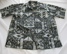 Cooke Street Black and White Short Sleeve Hawaiian Shirt Size XL Aloha - $26.11