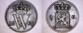 1863 Netherlands 1 Cent World Coin - $14.99