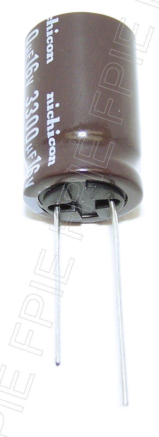 16V 3300uF Radial PW Capacitor 16x25.80mm Nichicon (200-6986)
